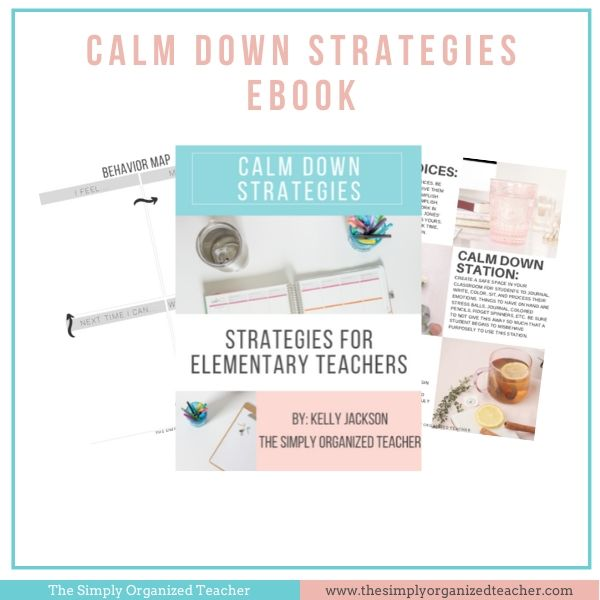 Looking for ways to calm students in your classroom. This resource share 6 practical ways you can work with students to calm them down in a heated moment.