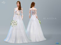 Lace Wedding Dress KLAUDIA  The Sims 4 Catalog