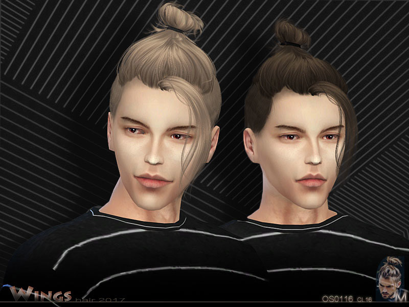 Wings Hair Os0116 M The Sims 4 Catalog