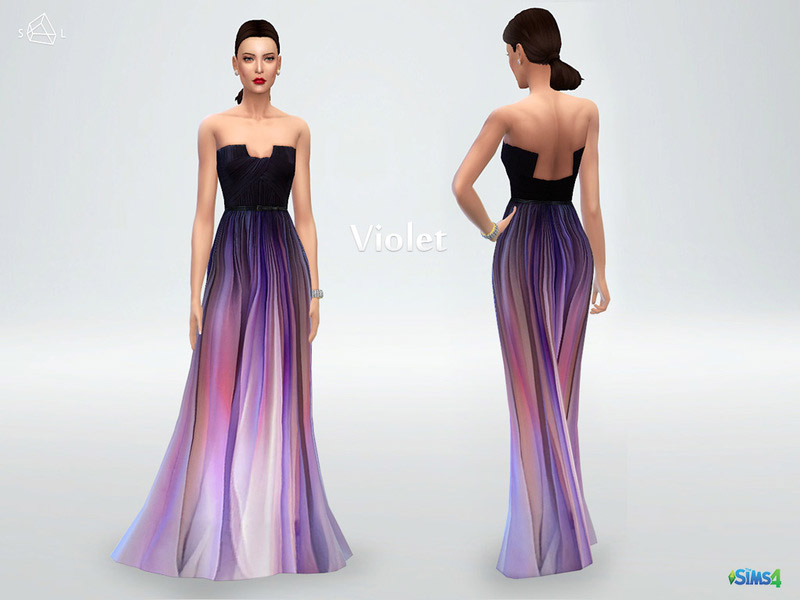 Silk Ombre Gown Violet The Sims 4 Catalog