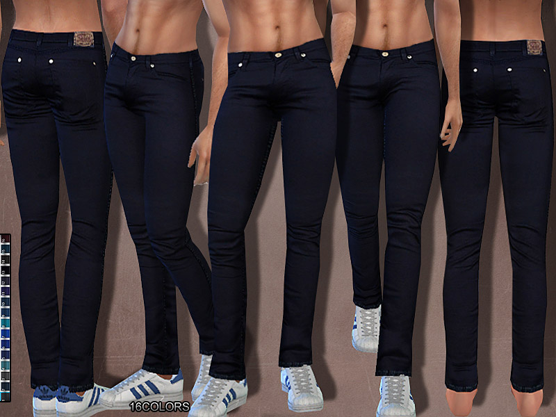 Summer Dark Denim Jeans Men The Sims 4 Catalog