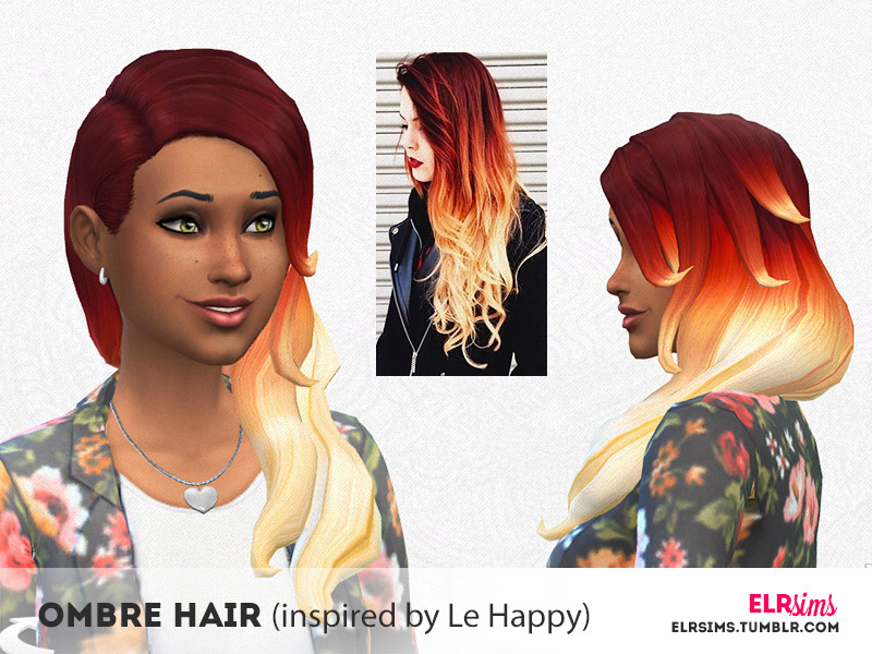 Elr Sims Ombre Hair Inspired By Le Happy The Sims 4 Catalog