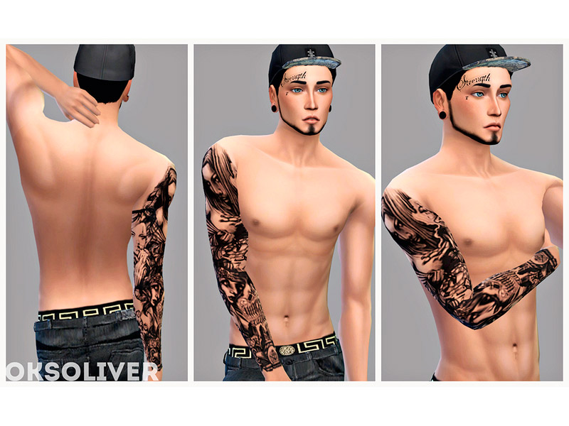 ee9276988 Chicano's male tattoo - The Sims 4 Catalog