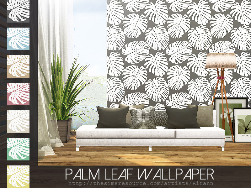 Palm Leaf Wallpaper - The Sims 4 Catalog