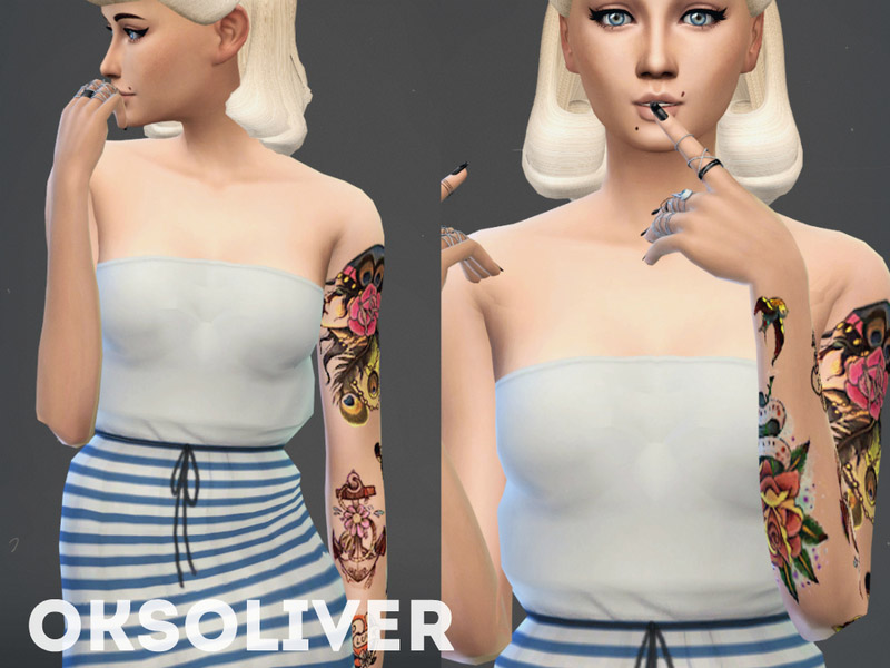 Old School Female Tattoo The Sims 4 Catalog