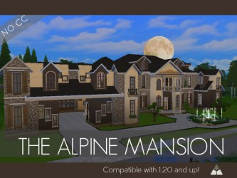 The Alpine Mansion The Sims 4 Catalog