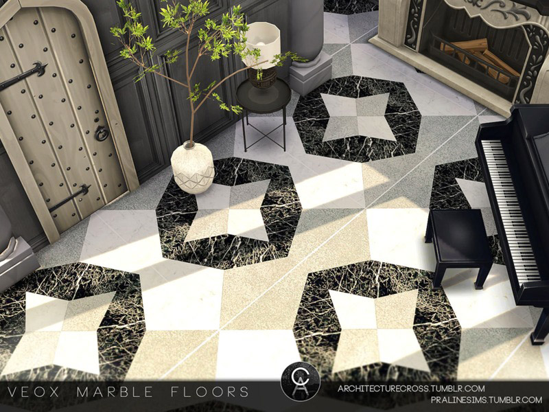 Veox Marble Floors The Sims 4 Catalog
