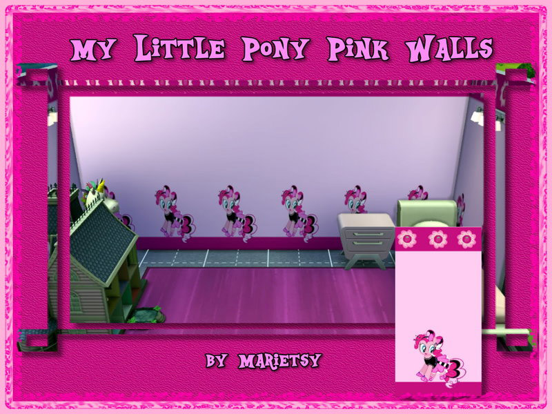 My Little Pony Pink Wall - The Sims 4 Catalog