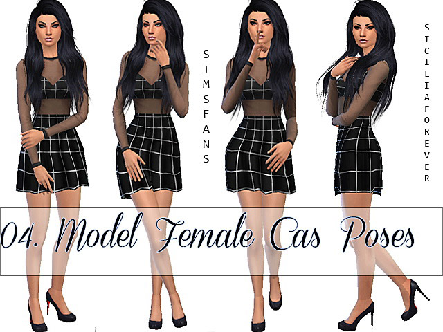 04 Model Female Cas Poses/Animation - The Sims 4 Catalog