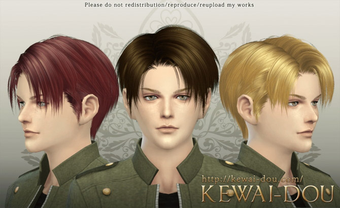 Levi Male Hair The Sims 4 Catalog