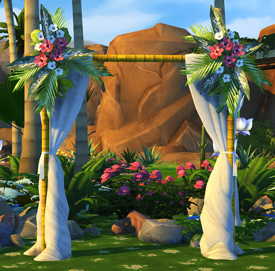Wedding Altar In Sims 3: Fully Functional Wedding Arches