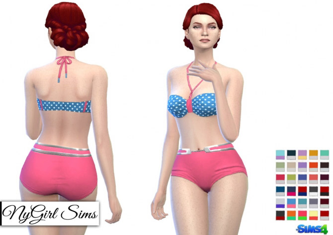 Retro polka dot bikini will order