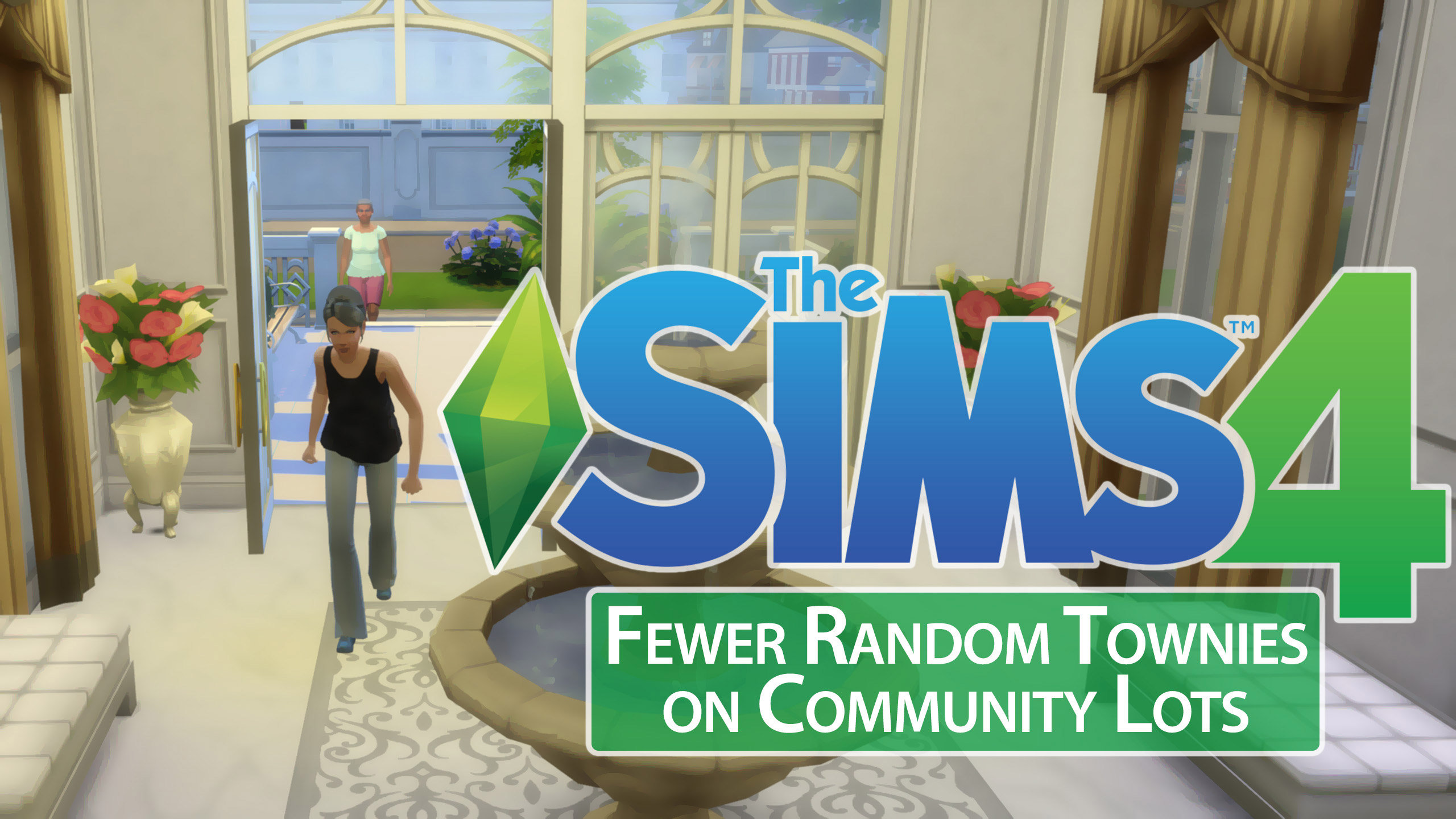 Fewer Random Townies on Community Lots - The Sims 4 Catalog