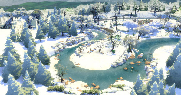 how to make it snow in sims 4