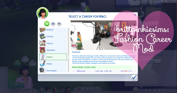 Fashion Career Mod: Update! - The Sims 4 Catalog