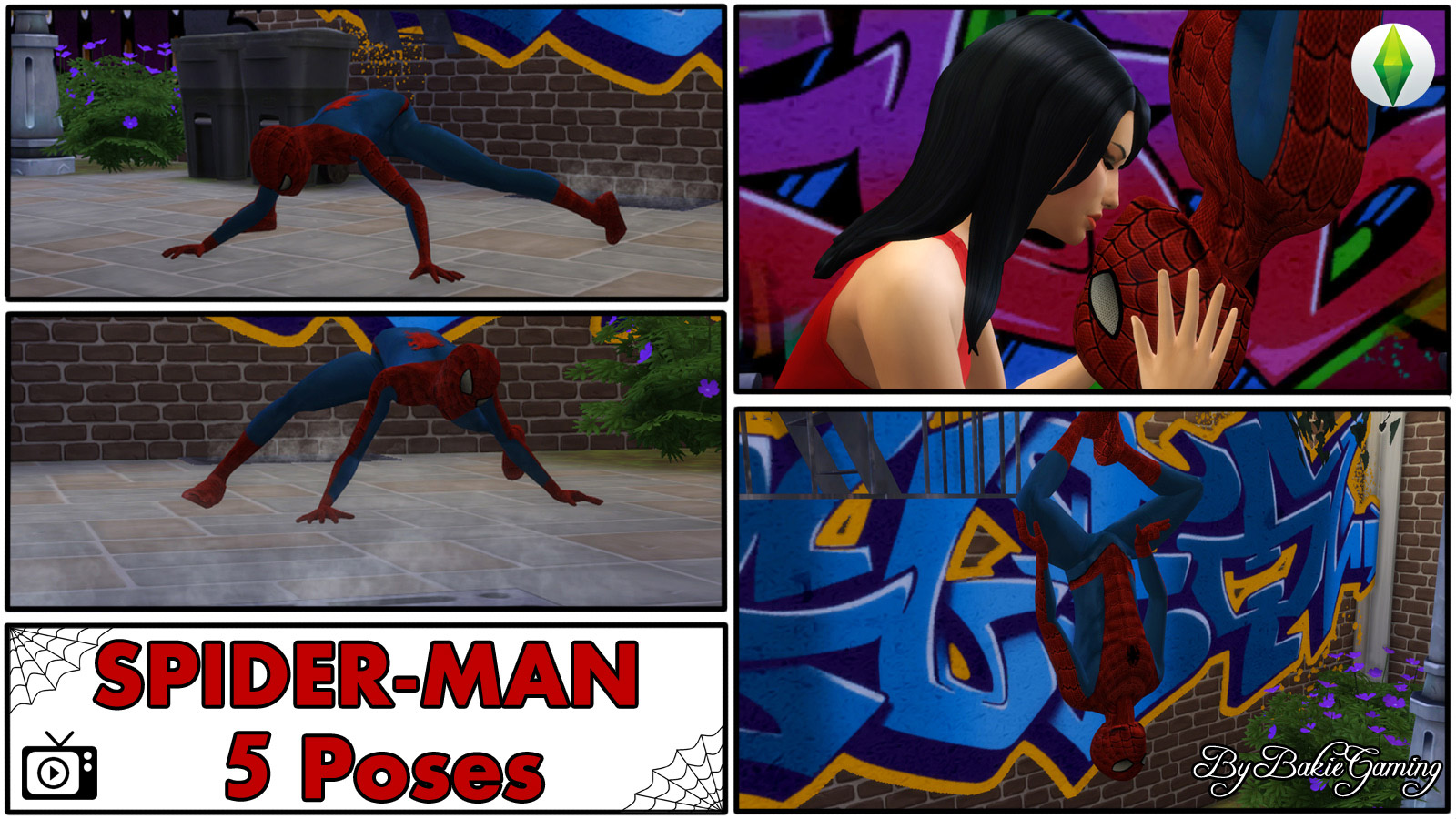 kitchen safety shoes for women furniture ideas spider-man pose pack - the sims 4 catalog
