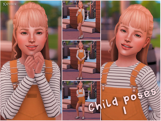 Child Pose Pack 01 - The Sims 4 Catalog