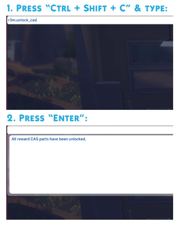Cheat Code: Unlock CAS Rewards by r3m at Mod The Sims - The Sims 4