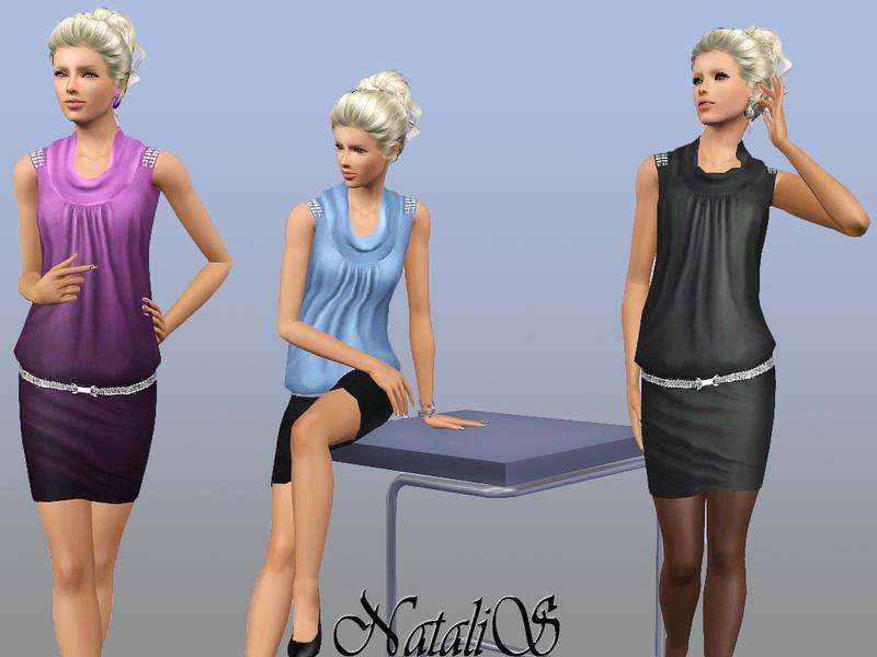 NataliS' Draped Cowl Neck Dress 079 FA