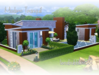 modern sims houses tranquil lots lenabubbles82 sims4 jun published resource