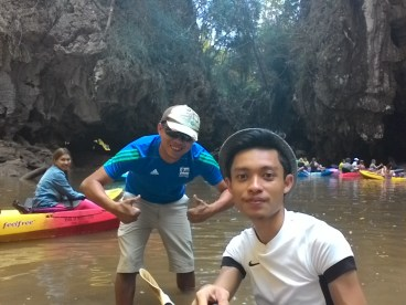 Met this guide for kayaking to big headed ghost cave, he is one of the funniest dude to be with.