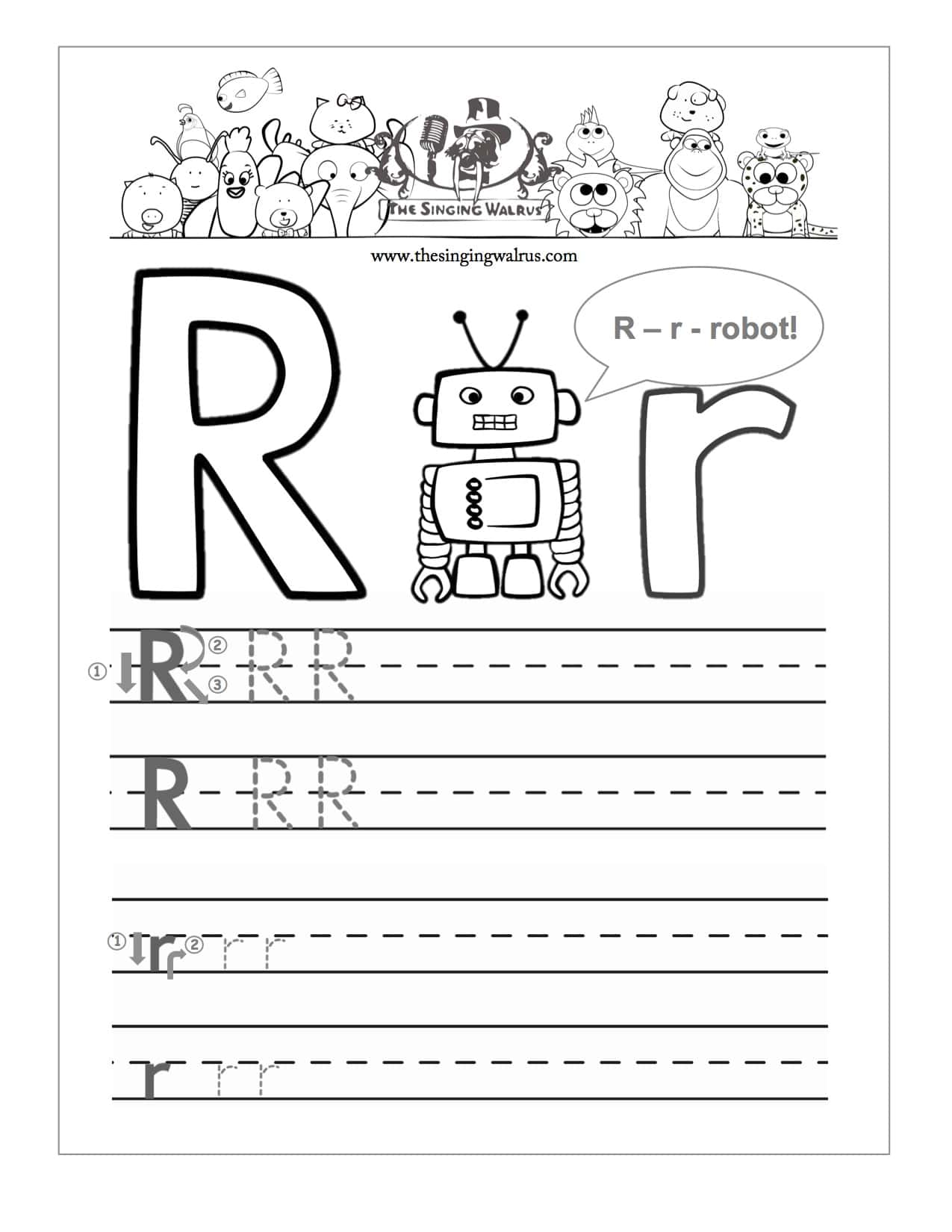 R Worksheets Alphabet Kindergarten R Best Free Printable