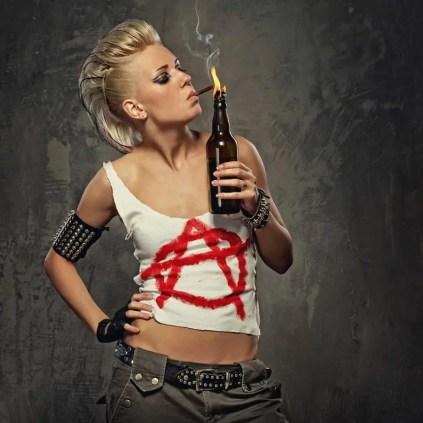 Punk Girl Smoking - Toxic People