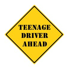 The Single Mom Blog - Letting Go, Teenage driver sign