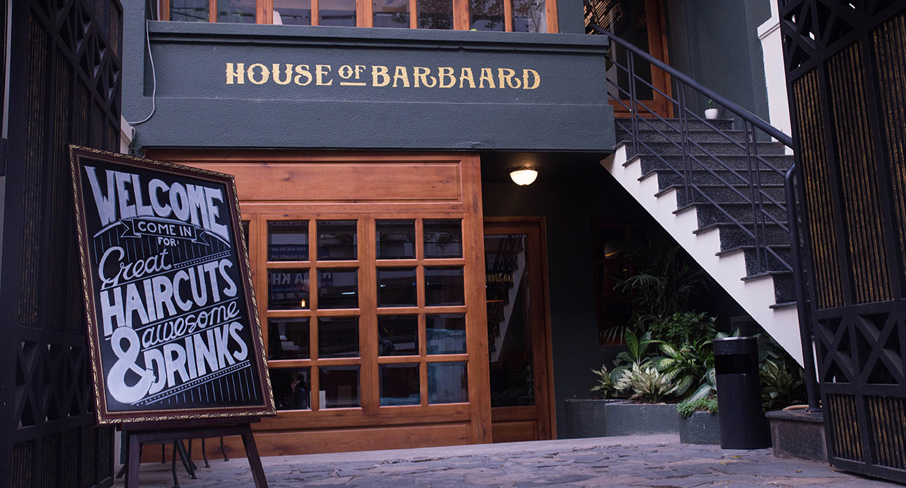 House of barbaard store front the sip app