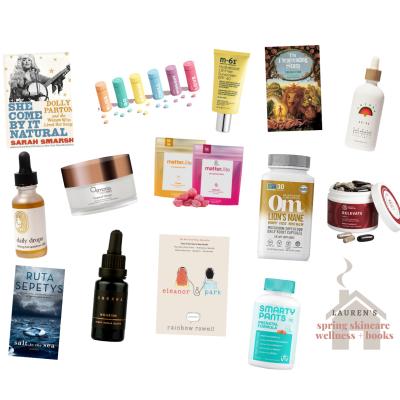 Spring Wellness, Skincare, & Books