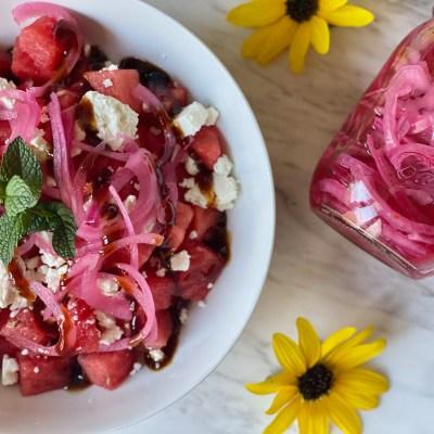 Watermelon, Feta, and Quick-Pickled Onion Salad