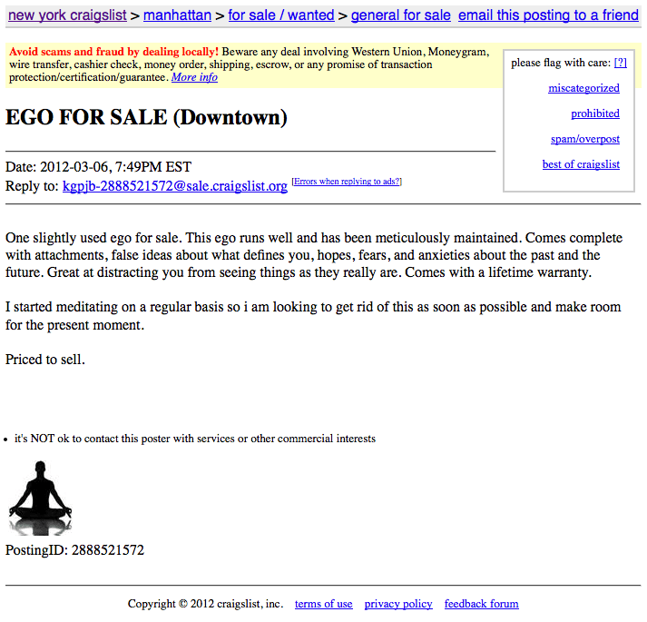 Ego For Sale