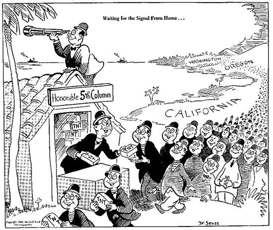 Dr. Seuss Japanese war cartoon