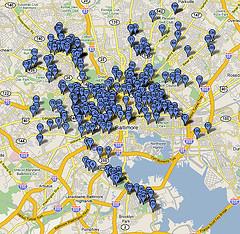 Baltimore Murder Map 2006