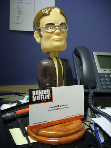 Dwight Schrute Bobblehead - from Dan H on Flickr