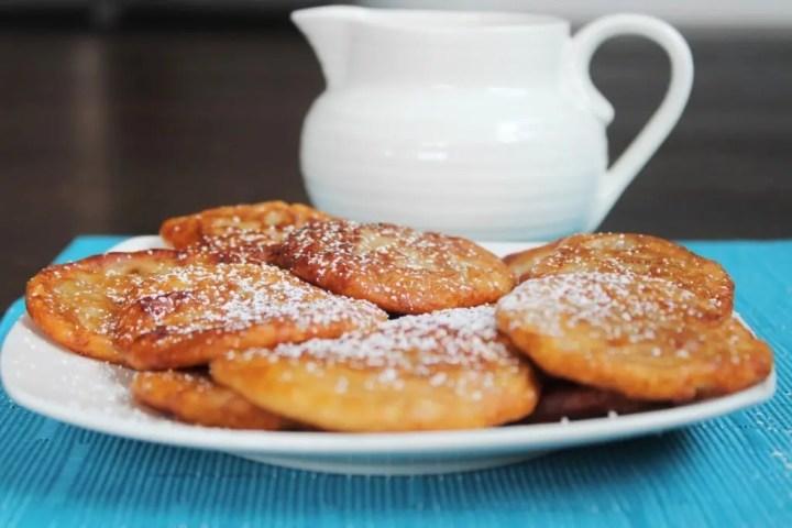 Jamaican Banana Fritters with Powdered Sugar