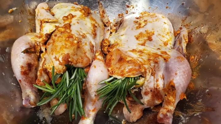 Seasoning and Preparing Cornish Hens