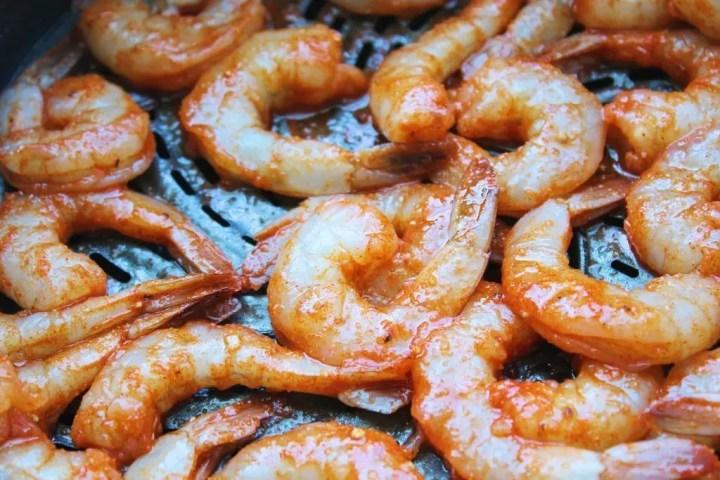Preparing to Cook the Shrimp