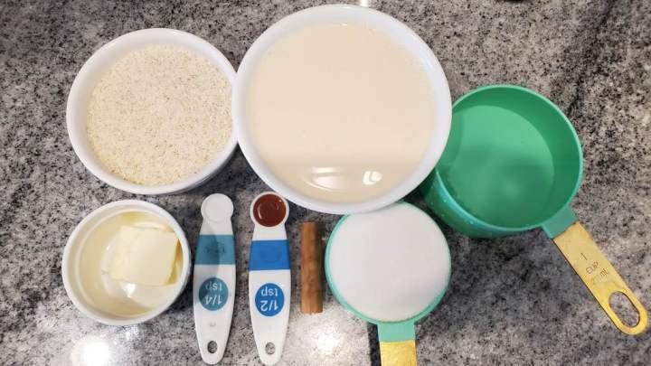Ingredients for homemade porridge mix