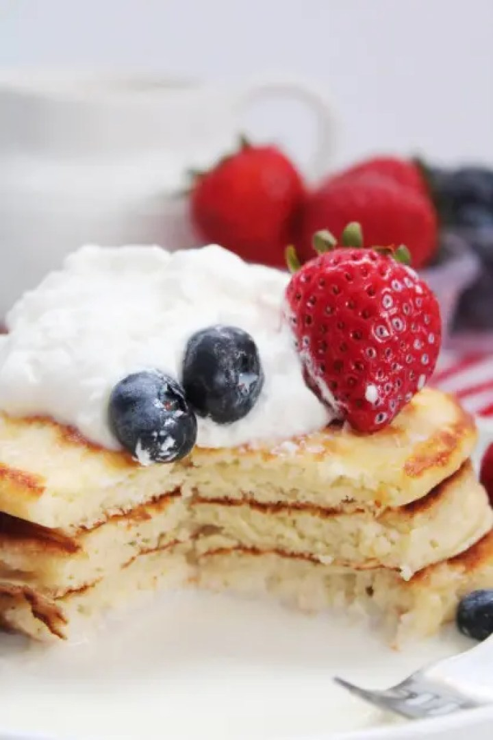 Serving Pancakes for Breakfast, Mexican Tres Leches style
