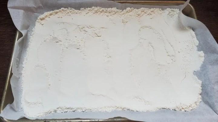 Heat treating flour
