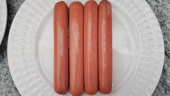 Using good quality beef franks like this one are a must.