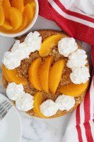 peach cobbler cheesecake in the instant pot