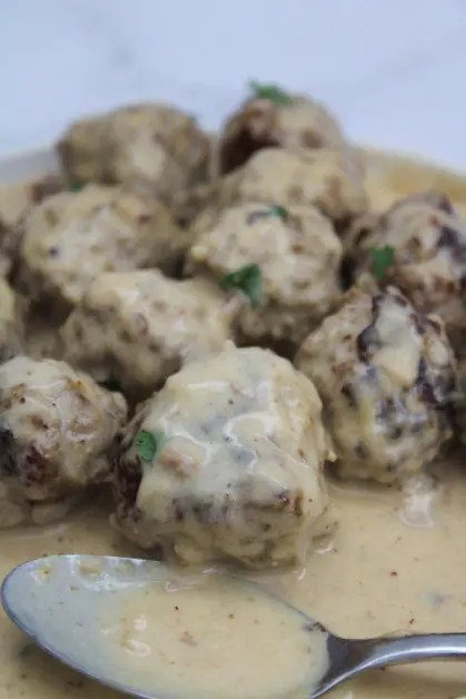 These instant pot Swedish meatballs were inspired by an Ikea copycat recipe.