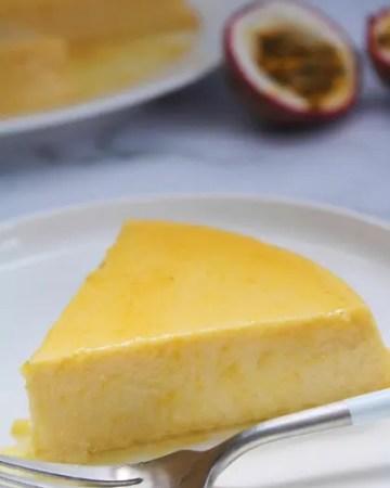 Easy passion fruit flan recipe