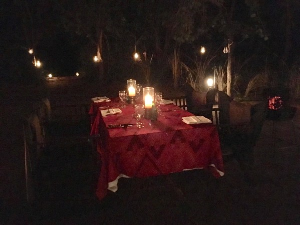 Dinner in the forest India