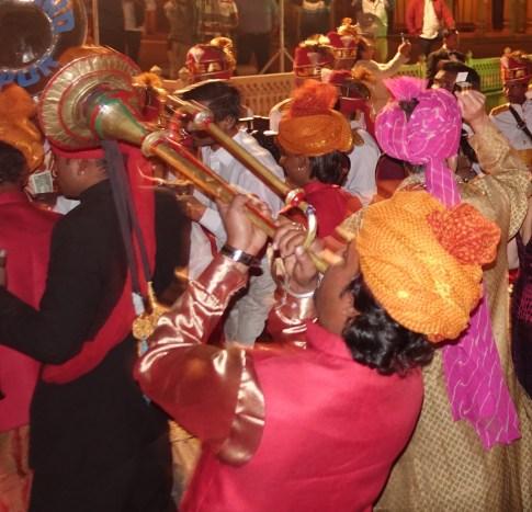 Band at wedding Jaipur City Palace