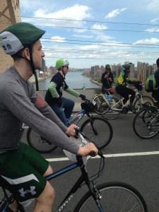 "5Boro Bike Riders crossing the summit of the Queensboro aka 59th Street aka ""Feelin Groovy"" Bridge"