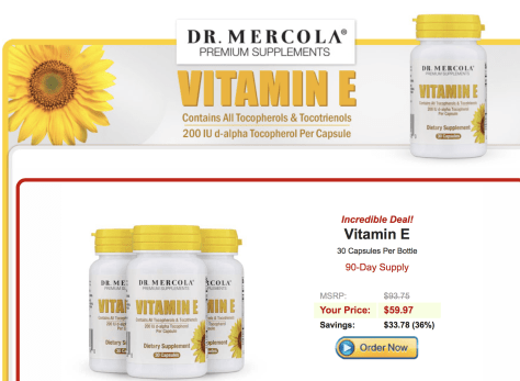 Mercola vitamin E