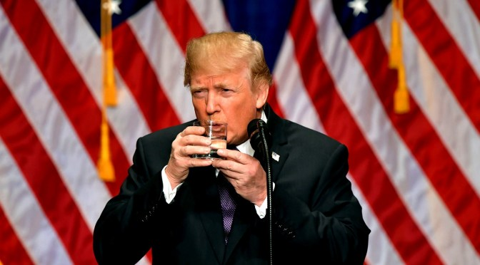 Are Trump's Problems with Walking, Drinking Water Due to Hydroxychloroquine?